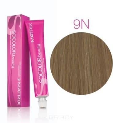 Купить Matrix, Крем краска для волос SoColor.Beauty профессиональная, 90 мл (палитра 133 цветов) SOCOLOR.beauty 9N очень светлый блондин