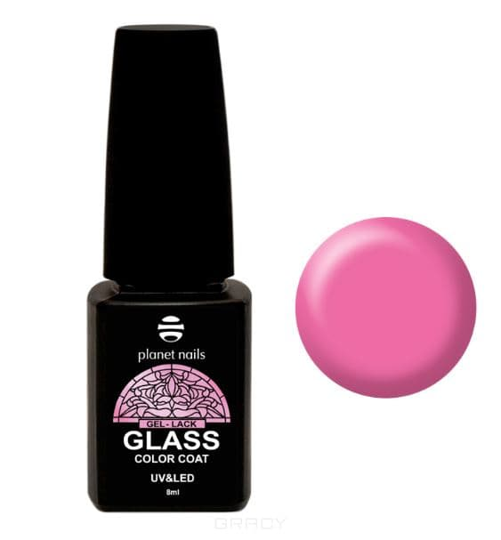 Planet Nails, Гель-лак GLASS (6 оттенков), 8 мл Гель-лак GLASS - 740 nova гель лак 094 skylishly