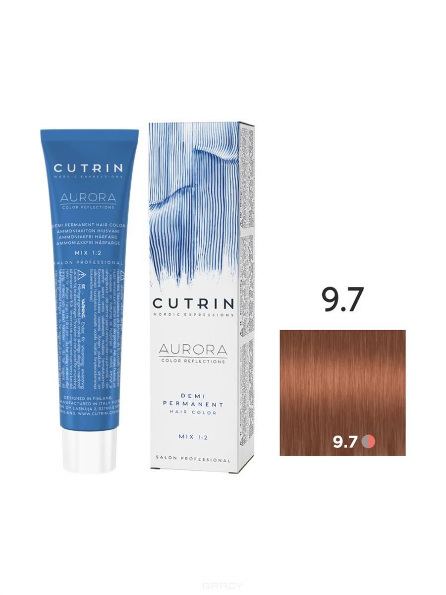 Купить Cutrin, Безаммиачная краска Aurora Demi (Новый дизайн Reflection Demi), 60 мл (55 оттенков) 9.7 Латте