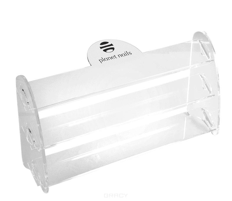 Фото - Planet Nails, Подставка для лаков с логотипом 3 яруса (большая) подставка