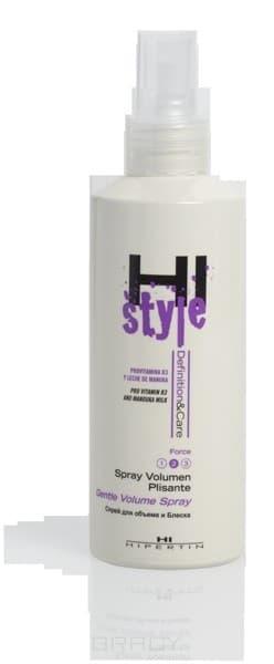 Спрей для придания объема Hi-Style Volume Spray, 200 млСпрей для придания объема является экологически безопасным средством, который увеличивает объем волос и питает волосы витаминами. Объем создается у корней, особенно когда волосы полностью высохнут. &#13;<br>В составе спрея для придания объема содержатся натуральные экстракты. Они обеспечивают защиту, увлажнение, необходимый уход.&#13;<br> &#13;<br>Особенно спрей подходит для моделирования городских причесок и спонтанных. Наносится он на увлажненные волосы по длине волос и под корни, потом высушивается феном.<br>