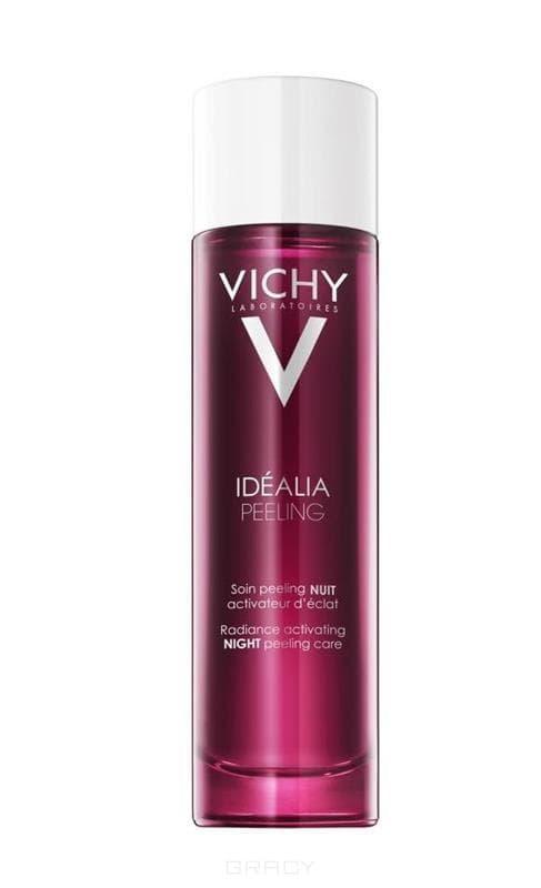 Ночной пилинг Idealia, 100 млНегативные факторы, сопровождающие высокий темп жизни, вызывают оксидативный стресс кожи, в результате которого внутри клеток кожи накапливаются свободные радикалы и нарушается энергообмен. Это приводит к ухудшению качества кожи: появлению тусклого цвета кожи, неровного тона и текстуры.&#13;<br>&#13;<br>    &#13;<br>  &#13;<br>&#13;<br>Уникальное сочетание деликатных отшелушивающих компонентов [Гликолевая кислота 4% + Hepes 5%], ферментированного экстракта черного чая, активирующего сияние, и экстракта черники с антиоксидантным действием в комплексе с Минерализирующей термальной водой VICHY.&#13;<br>&#13;<br>&#13;<br>    &#13;<br>  &#13;<br>&#13;<br>Способ применения:&#13;<br>&#13;<br>&#13;<br>    &#13;<br>  &#13;<br>&#13;<br>Наносить ежедневно вечером на очищенную кожа лица с помощью ватного диска, избегая области вокруг глаз. Не смывать. Затем наносить основной ночной уход. Утром использовать средство с SPF15. Избегать прямого воздействия солнечных лучей.<br>