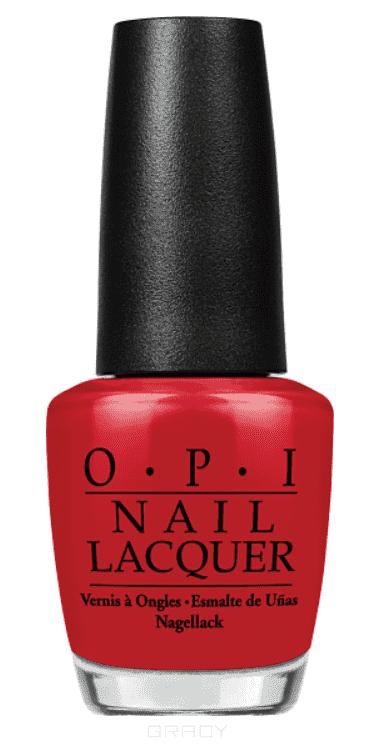 OPI, Лак для ногтей Classic, 15 мл (106 цветов) Red Hot Rio kinetics 332 лак профессиональный для ногтей solargel polish rio rio 15 мл