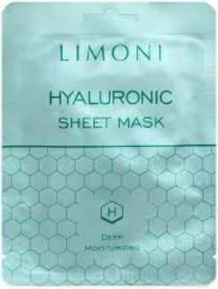 Купить Limoni, Тканевая маска для лица с гиалуроновой кислотой Deep Moisturizing Hyaluronic Sheet Mask, 20 гр
