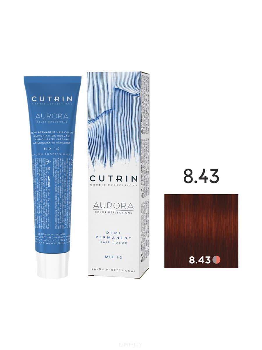 Купить Cutrin, Безаммиачная краска Aurora Demi (Новый дизайн Reflection Demi), 60 мл (55 оттенков) 8.43 Светлое медное золото