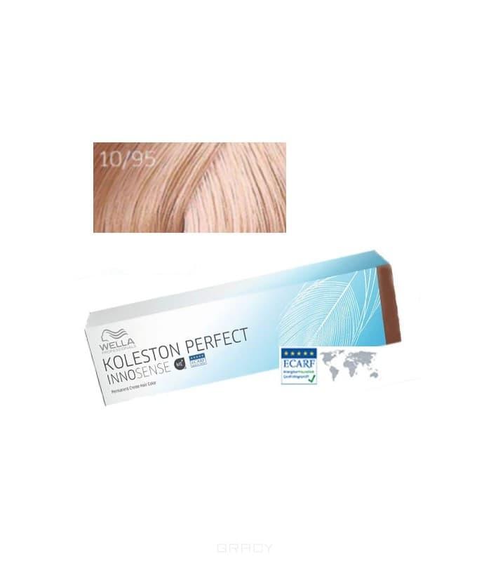 Купить Wella, Стойкая крем-краска для волос Koleston Perfect Innosense, 60 мл 10/95 яркий блонд сандрэ махагоновый