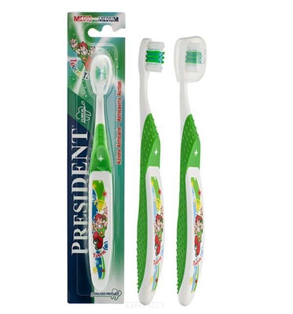 President, Зубная щетка средняя Тинс 12+ цена