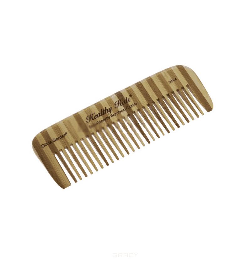 Расческа деревянная С4 OGBHHC4Бамбуковый гребень Olivia Garden OGBHHC4 для волос. Высококачественный, экологичный, легкий и прочный гребень с ручкой из натурального бамбука от Olivia Garden.&#13;<br>&#13;<br>Расчески и щетки для волос из бамбука - более прочные, лёгкие и долговечные, чем из обычного дерева. Бамбук - гораздо более экологичный материал, нежели обычная древесина. Он вырастает на 20 метров всего за 4 года, в то время как обыкновенному дереву для этого понадобится от 25 до 60 лет. Кроме того бамбук на 15% прочнее клена и на 30% легче дуба. Применение бамбука в производстве помогает сохранить нетронутыми леса и экологию на нашей планете.<br>