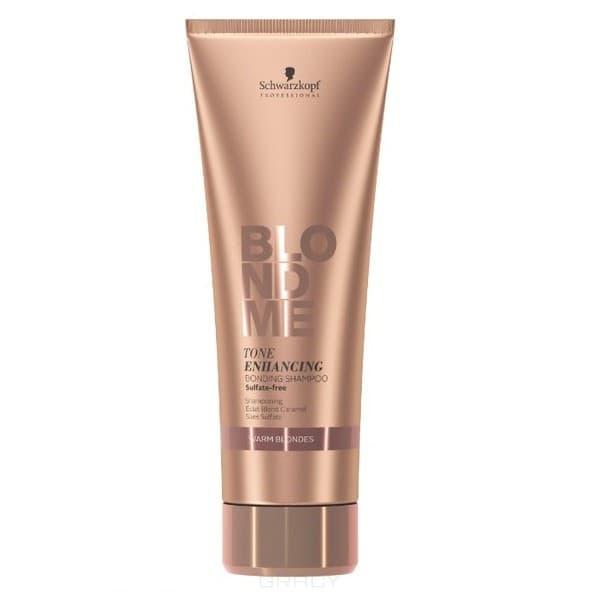 Бондинг-Шампунь для теплых оттенков блонд Blondme Tone Enhancing Bonding Shampoo Warm Blondes, 250 мл