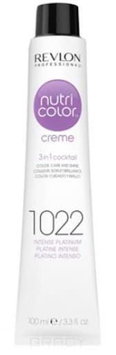 Revlon, Крем-краска для волос 3 в 1 Nutri Color Creme, (52 оттенка) 1022 Интенсивный платинум краска для волос колор кроссворд 5 букв