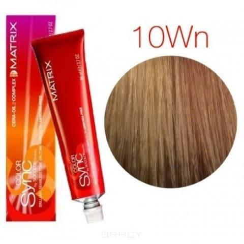 Matrix, Color Sync Краска для волос Матрикс Колор Синк (палитра 68 цветов), 90 мл 10WN очень-очень светлый блондин теплый натуральный