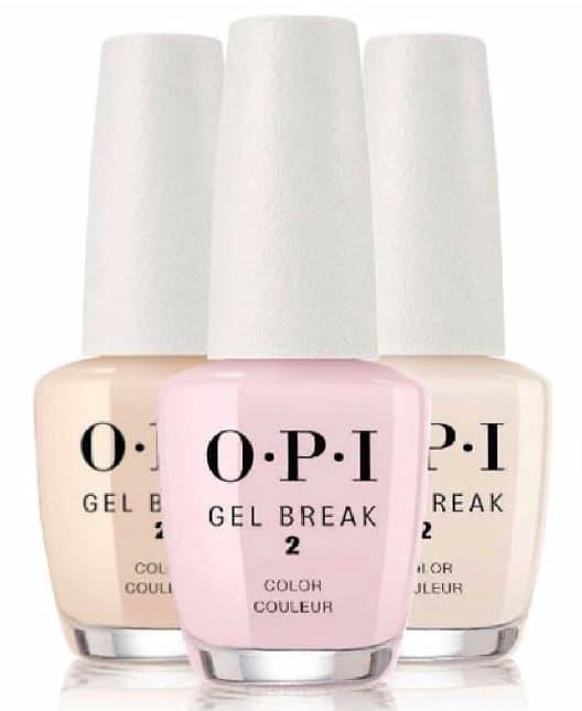 Фото - OPI, Ухаживающее покрытие с эффектом цвета Gel Break, 15 мл (3 цвета), Too Tan-talizing, бежевый нюдовый opi gel break serum base coat восстанавливающее выравнивающее базовое покрытие 15 мл
