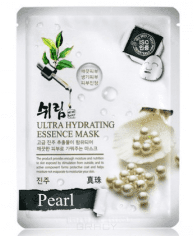 Shelim, Тканевая маска для лица  экстрактом жемчуга Ultra Hydrating Essence Mask Pearl, 25 мл