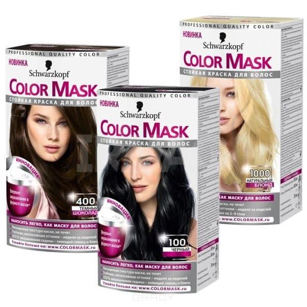 Schwarzkopf Professional, Краска для волос Color Mask, 60 мл (16 оттенков) 100 ЧерныйОкрашивание<br>Краска Schwarzkopf Color Mask – уникальная разработка для окрашивания и ухода за волосами<br> <br>Краска для волос Color Mask– уникальная разработка немецкой компании Schwarzkopf. Продукт имеет консистенцию маски, что повышает его эффективность и упрощает ...<br>