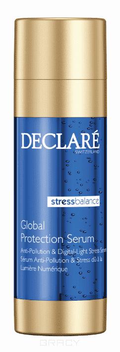 Declare, Двухфазное защитное антистресс-средство комплексного действия Global Protection Serum, 2х20 мл declare caviar beautifying serum 50 мл