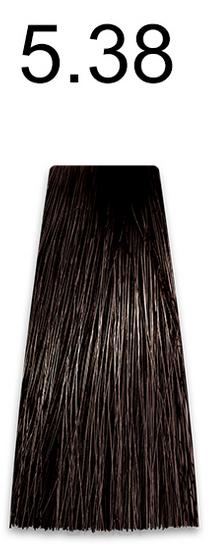 Купить Kaaral, Стойкая безаммиачная крем-краска с гидролизатами шелка Baco Soft Ammonia Free, 60 мл (42 оттенка) 5.38 светлый золотисто-коричневый каштан