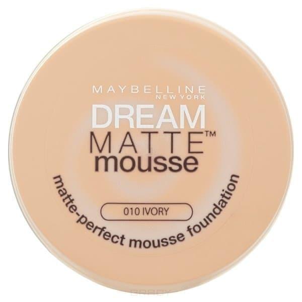 Maybelline, Тональный крем Dream Matte Mousse,18 мл (6 оттенков) 010 Слоновая костьДля лица<br><br>