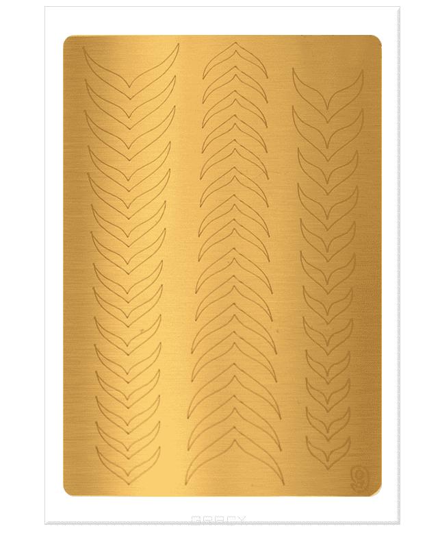 Planet Nails, Металлизированные наклейки-трафареты (38 рисунков) Металлизированные наклейки-трафаретыДизайн для ногтей<br><br>