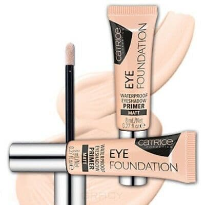 цена на Catrice, Водостойкий праймер под тени для век Eye Foundation Waterproof Eyeshadow Primer, тон 010