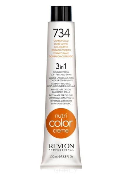 Revlon, Крем-краска 3 в 1 Nutri Color Creme, (29 оттенков) 734 Медно-золотойОкрашивание волос Revlonissimo Colorcosmetique, Hight Coverage, Nutri Color Creme и др.<br><br>