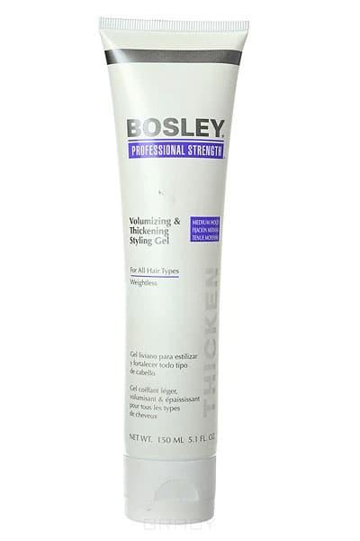 Bosley Pro, Гель для объема и густоты волос Volumizing &amp; Thickening Styling Gel, 150 млУкладка<br><br>
