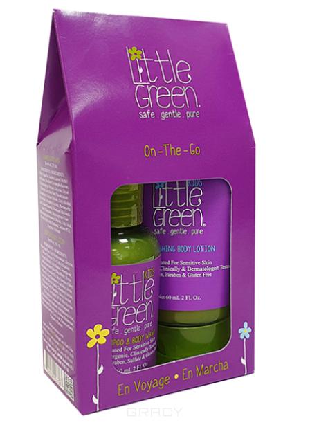 Купить Little Green, Набор В дорогу для детей от 12 месяцев On-The-Go Kit (шампунь гель для тела, лосьон для тела), 60/60 мл