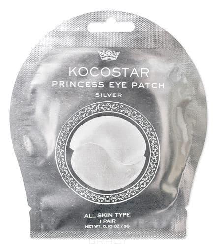 Купить Kocostar, Гидрогелевые патчи для глаз серебряные Princess Eye Patch Silver, 2 патча/ 1 пара, 3 гр