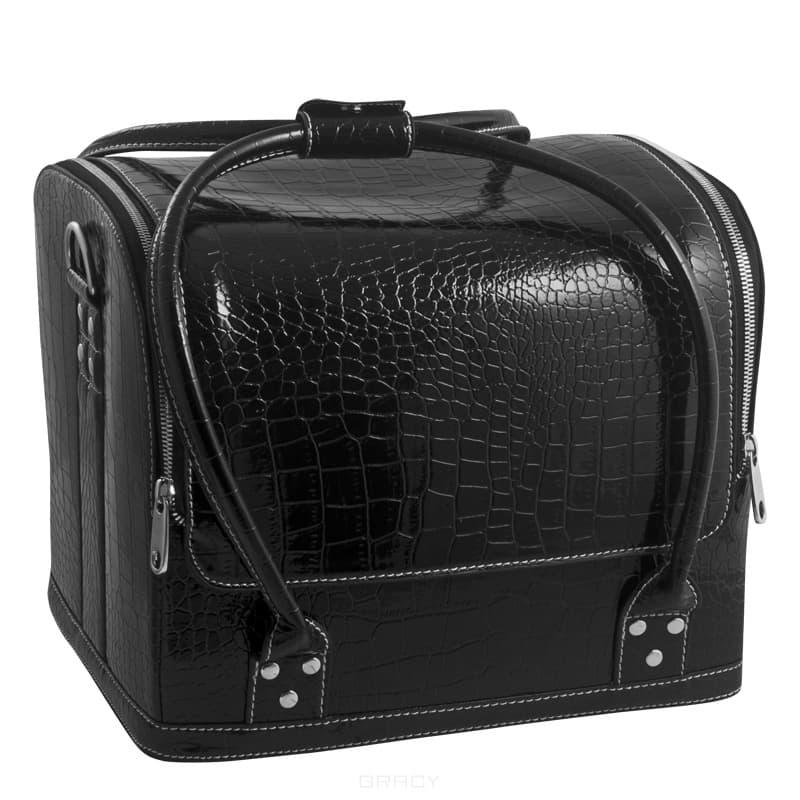 Planet Nails, Сумка-чемодан черна Crocodile MAXЧемоданы и сумки профессиональные<br><br>