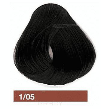 Lakme, Перманентная крем-краска Collage, 60 мл (99 оттенков) 1/05 Черный махагоновый  - Купить