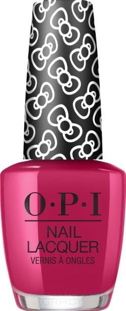 OPI, Лак для ногтей Nail Lacquer, 15 мл (287 цветов) All About the Bows / HELLO KITTY 2019 opi лак для ногтей nail lacquer 15 мл 275 цветов a kiss on the chìc hello kitty 2019