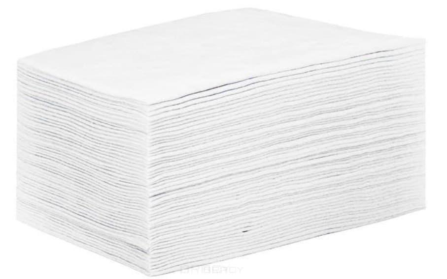 Купить Igrobeauty, Простыня SMS 80х200 см, ЭКОНОМ Белая, Пластом, 50 шт/уп.