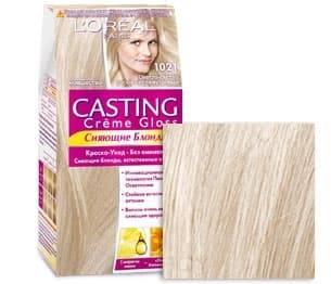 L'Oreal, Краска для волос Casting Creme Gloss (37 оттенков), 254 мл 10.21 Светло светло-русый перламутровый фото