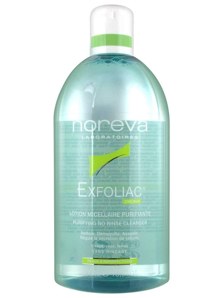Noreva, Очищающий мицеллярный лосьон Exfoliac, 250 мл лосьон мицеллярный очищающий noreva exfoliac lotion micellaire purifiante 250 мл