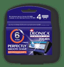 Купить Deonica, Сменные кассеты для бритья FOR MEN 6 лезвий, 4 шт