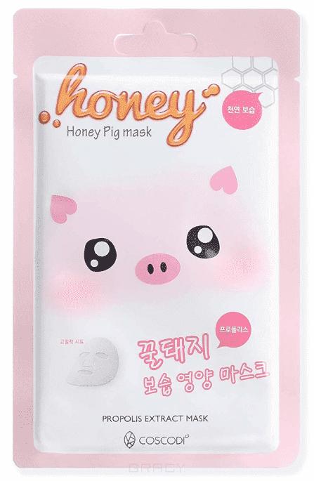 Coscodi, Тканевая маска с прополисом для упругости Honey Pig Mask  - Купить