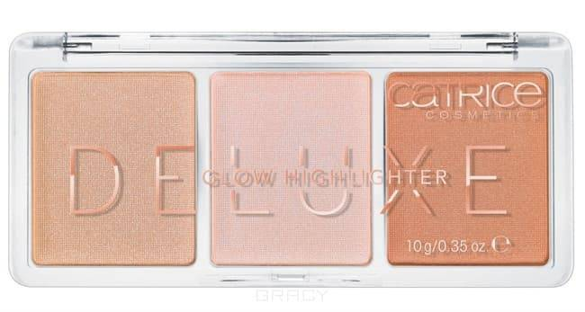 Catrice, Хайлайтер 3 в 1 Deluxe Glow Highlighter The Glowrious Three, тон 010 хайлайтер by terry glow expert duo stick 3 цвет 3 peachy petal variant hex name f89f97