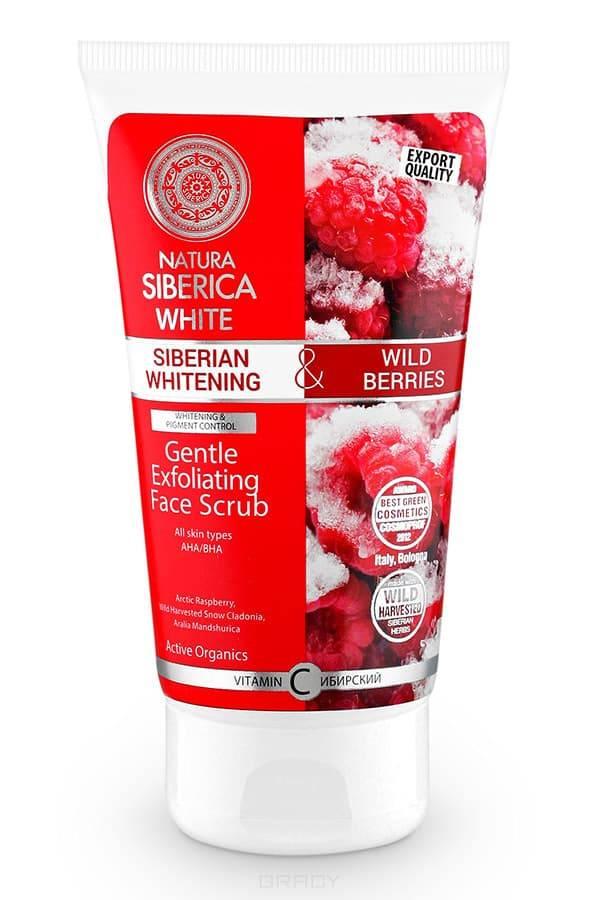 Отбеливающий мягкий скраб-эксфолиант для лица White, 150 млсибирские ягоды и AHA-кислоты&#13;<br> &#13;<br> ЭФФЕКТИВНОСТЬ:&#13;<br> &#13;<br> Арктическая малина  ценится за высокое содержание витамина С, который стимулирует  выработку коллагена, способствует тонизированию и омоложению кожи, регулирует деятельность сальных желез.&#13;<br> &#13;<br> WH Кладония Снежная  восстанавливает  тонус, питает, регулирует  обмен веществ, способствуя обновлению кожи.&#13;<br> &#13;<br> Аралия Маньчжурская способствует омоложению, защищает от внешних  факторов, разглаживает морщины,  восстанавливает  эластичность  кожи, делая ее мягкой и бархатистой.  Активирует  обменный процесс  в клетках кожи, обеспечивает глубокое очищение.&#13;<br> &#13;<br> АНА/BHAобеспечивают нежное отшелушивающее действие и стимулируют выработку коллагена. Обладая антиоксидантным и противовоспалительным эффектом,  они увлажняют кожу, увеличивая ее эластичность, маскируют дефекты и уменьшают морщины.&#13;<br> &#13;<br> Наносить продукт массирующими движениями на кожу лица. Смыть теплой водой. &#13;<br> &#13;<br> 0% Минеральных масел&#13;<br> 0% BHT/BHA&#13;<br> 0% Парабенов&#13;<br> 0% PEG &#13;<br> 0% Сили...<br>