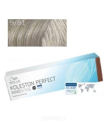 Купить Wella, Стойкая крем-краска для волос Koleston Perfect Innosense, 60 мл 9/81 очень светлый блонд жемчужный пепельный