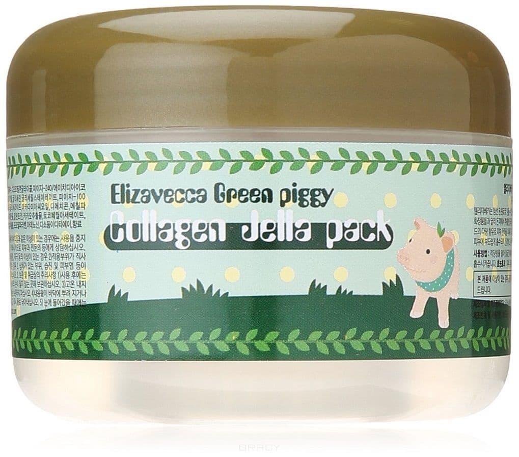 Купить Elizavecca, Гелевая маска для лица со свинным коллагеном Green Piggy Collagen Jella Pack, 100 мл