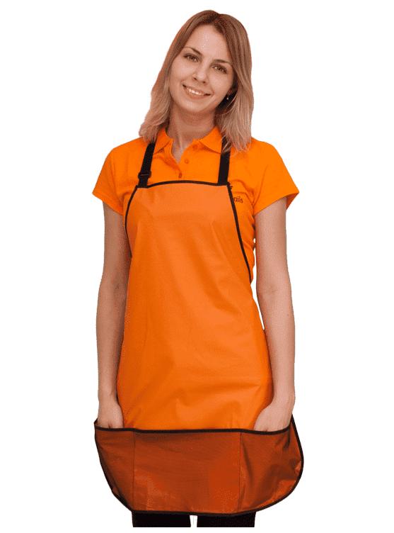 Planet Nails, Фартук мастера Simple 60х72 см, 1 шт, ОранжевыйФартуки мастера маникюра<br><br>