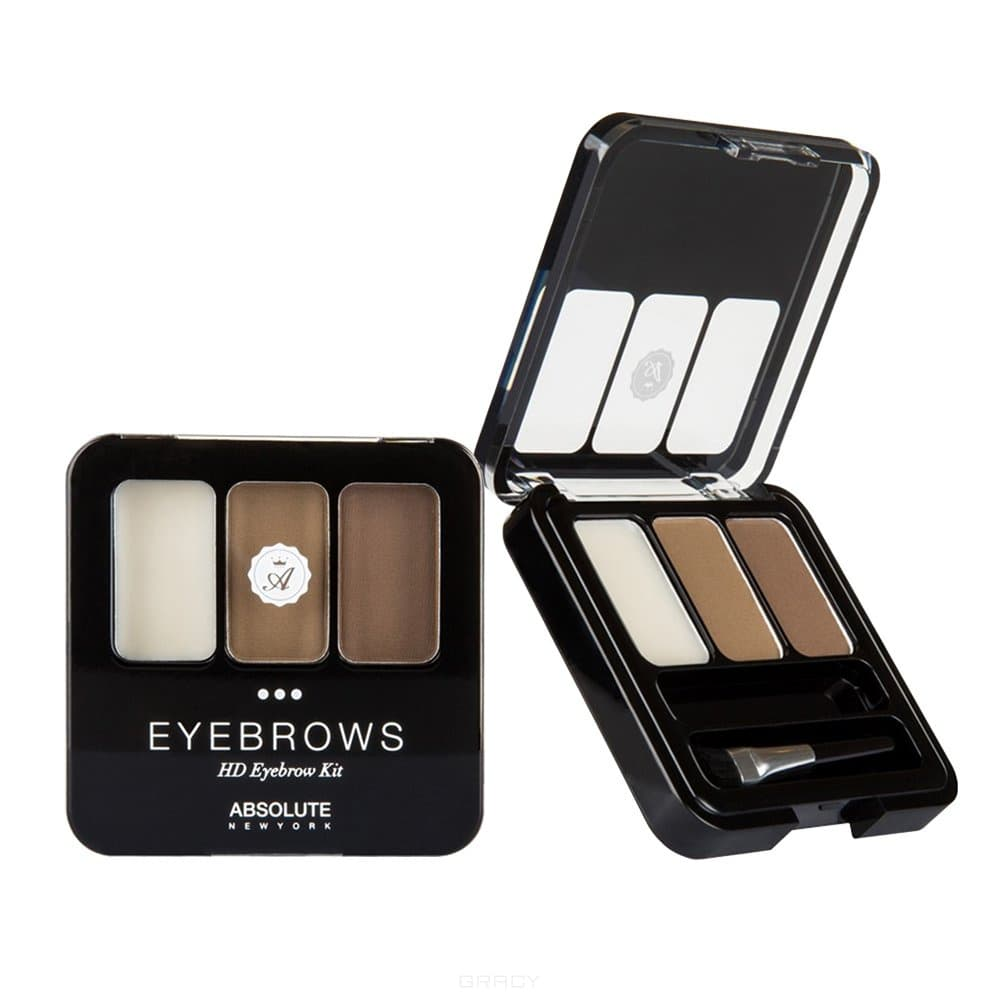 Купить Absolute New York, Набор теней для бровей HD Eyebrow Kit (5 видов), 1 шт, Ash Blonde