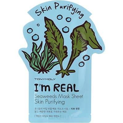 Tony Moly, Тканева маска с кстрактом морских водорослей I'm Real Seaweeds Mask Sheet Skin Purifying, 21 млМаски дл лица<br><br>