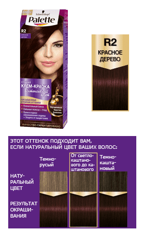 Schwarzkopf Professional, Краска для волос Palette, 50 мл (29 оттенков) R2     Красное деревоОкрашивание<br><br>