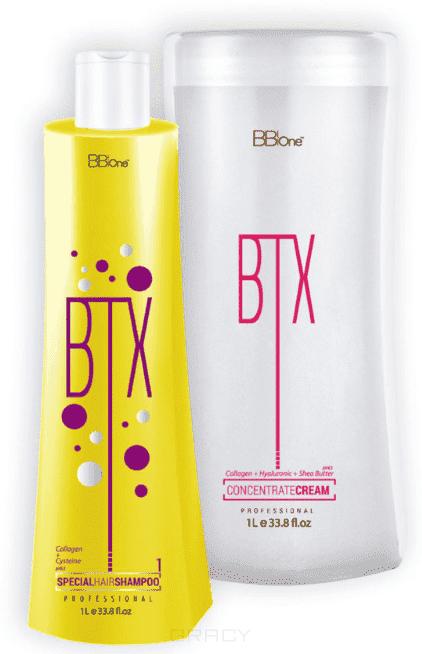 Купить BB One, Набор ботокс для волос Концентрат крем BTX Concentrate Cream без пигмента (шаг 1 + шаг 2), 500/1000 мл