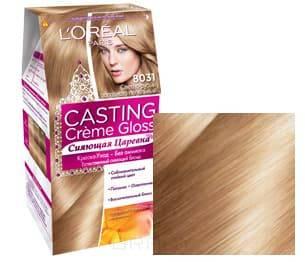 Купить L'Oreal, Краска для волос Casting Creme Gloss (37 оттенков), 254 мл 8031 Светло-русый золотистый пепельный