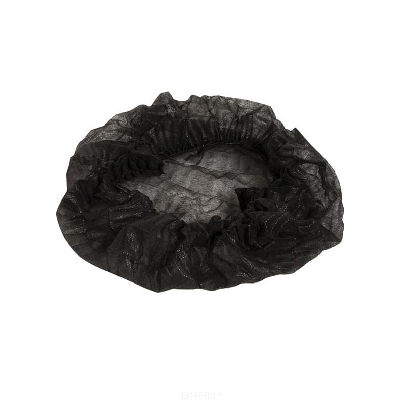 Planet Nails, Шапочка Шарлотта, черная, 100 шт/уп viva шапочка медицинская одноразовая шарлотта 100 шт