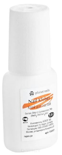 Planet Nails, Клей для ногтей с кисточкой, 7,5 гр