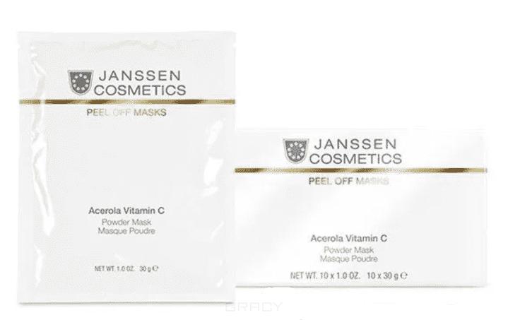 Janssen, Розовая моделирующая маска с ацеролой и витамином C Acerola Vitamin C Mask, 30 гр janssen acerola vitamin c powder mask розовая маска с ацеролой вишней и витамином с 10 30гр