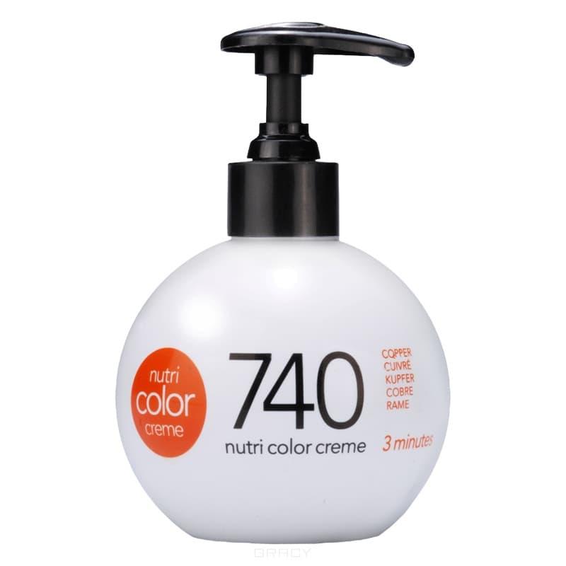 Revlon, Крем-краска для волос 3 в 1 Nutri Color Creme, (52 оттенка) 740 Медный краска для волос колор кроссворд 5 букв