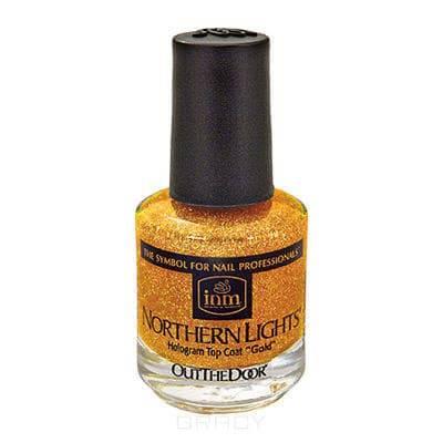 Купить INM, Голографическая сушка-закрепитель лака золото Northen Lights Gold, 15 мл